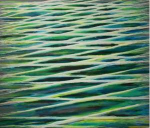 Flüssigblau, Öl/Lw., 190 x 230