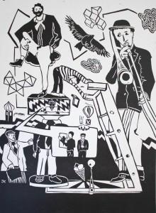La Boheme, 2013, Hochdruck, 100x70